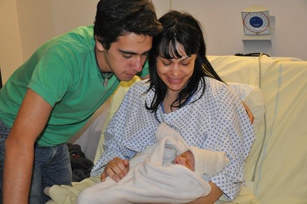 Con Leo y su hermanita que acababa de nacer