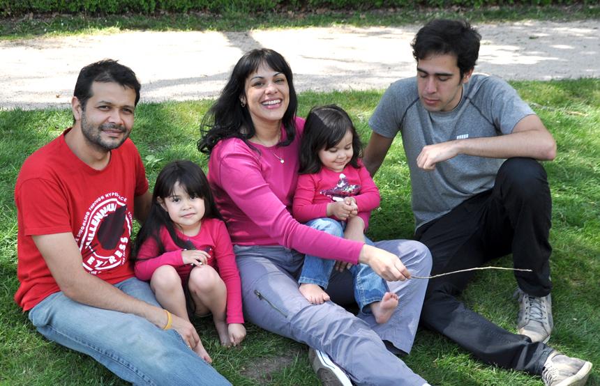 Maricarmen Grisolia con su familia